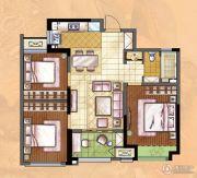 新城・香溢俊园3室2厅1卫87平方米户型图