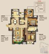 光明澜山3室2厅2卫119平方米户型图