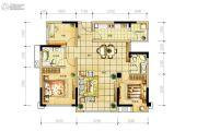 长虹和悦府3室2厅2卫103平方米户型图