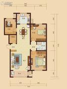 东城人家3室2厅1卫122平方米户型图