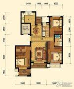 迎恩府3室2厅2卫131平方米户型图