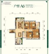 云星・钱隆世家4室2厅2卫117平方米户型图