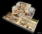 宏升物华天宝五期3室2厅2卫99平方米户型图