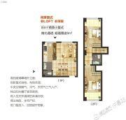 空港新城2室2厅2卫88平方米户型图
