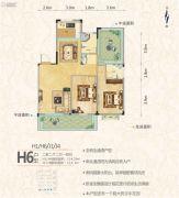 罗马中心城2室2厅2卫114平方米户型图