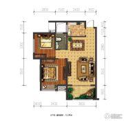 兴盛天鹅堡2室2厅1卫72平方米户型图