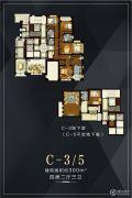 金地天境4室2厅3卫0平方米户型图