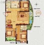 永信伯爵山3室2厅2卫133平方米户型图