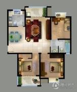 城置御水华庭3室2厅1卫109平方米户型图