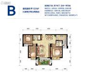 联创城市广场3室2厅2卫100--101平方米户型图