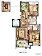 新城春天里3室2厅1卫88平方米户型图