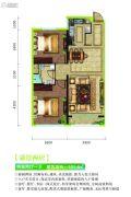 绿城翡翠园二期2室2厅1卫101平方米户型图