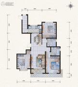 滨河果岭3室2厅2卫156平方米户型图