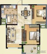 九洲花园缇香郡2室2厅1卫89平方米户型图