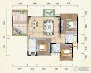 新鹏盛世临港3室2厅2卫101--127平方米户型图