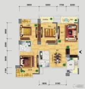 品阁3室2厅2卫118平方米户型图