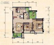 珠江城2室2厅0卫68平方米户型图