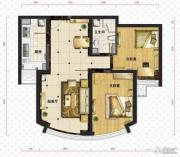 新华联运河湾2室2厅1卫88平方米户型图