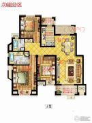 中锐星尚城3室2厅2卫120平方米户型图