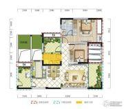 远达春天里3室2厅2卫102平方米户型图