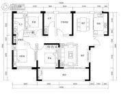 恒伟・湘江时代4室2厅2卫134平方米户型图