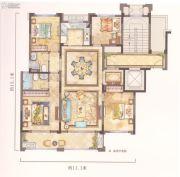 中梁温岭印象4室3厅3卫130平方米户型图