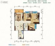 班芙春天3室2厅1卫0平方米户型图