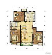 中国铁建・青秀尚城3室2厅1卫115平方米户型图