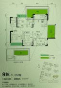 安宇花园三期3室2厅2卫110平方米户型图
