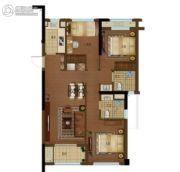 景瑞阳光城法兰公园4室2厅2卫105平方米户型图