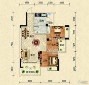 阳光西海岸3室2厅1卫88平方米户型图