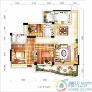 雅居乐十里花巷3室3厅2卫111平方米户型图