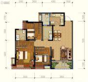 保利锦湖林语3室2厅2卫96平方米户型图