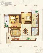 重邦康城2室1厅1卫95平方米户型图