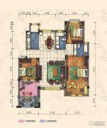 力旺康城3室2厅2卫138平方米户型图