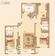 新华联雅园3室2厅2卫145平方米户型图