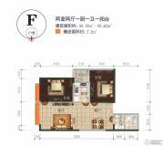 万宏国际2室2厅1卫88--92平方米户型图