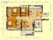 世界钰园3室2厅2卫122平方米户型图