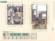 又一居・作品一号3室1厅1卫40平方米户型图