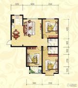 众和凤凰城3室2厅2卫126平方米户型图