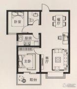 宝盛花语城2室2厅1卫94平方米户型图