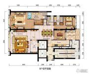 仁恒滨海中心2室2厅4卫0平方米户型图