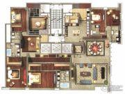仁恒滨海中心5室2厅5卫460平方米户型图