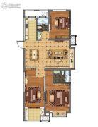 上城印象3室2厅2卫116平方米户型图
