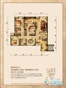 润丰水尚3室2厅2卫110平方米户型图
