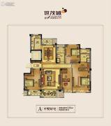 世茂天慧4室2厅2卫139平方米户型图