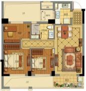 绿城・海棠湾3室2厅1卫0平方米户型图