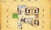 合汇学府名郡3室2厅2卫99平方米户型图