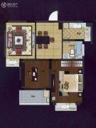华夏世纪锦园2室2厅1卫83平方米户型图