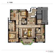 银润中央广场二期4室2厅3卫240平方米户型图